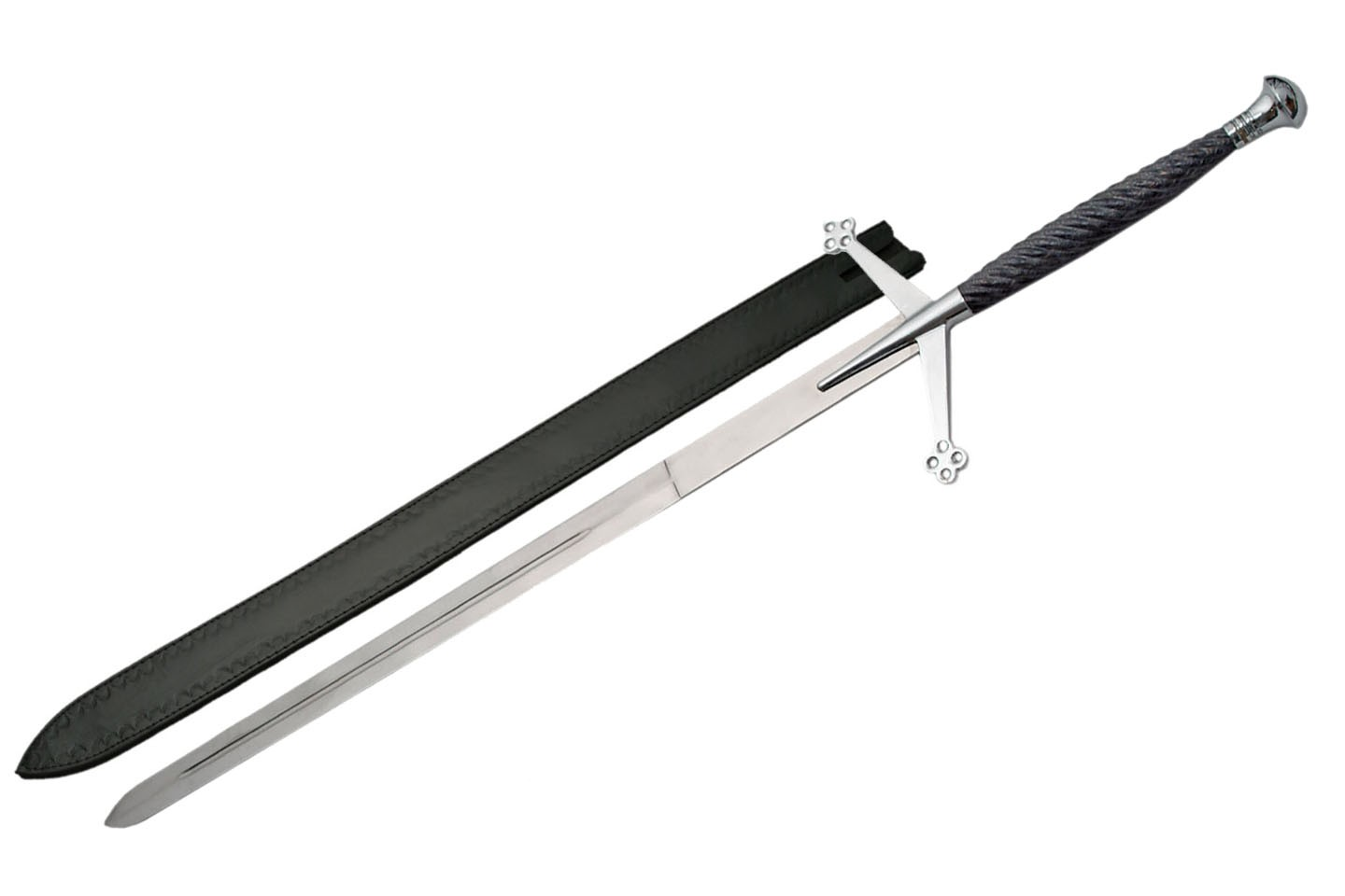 "52"" CLAYMORE SWORD - BLACK HANDLE"