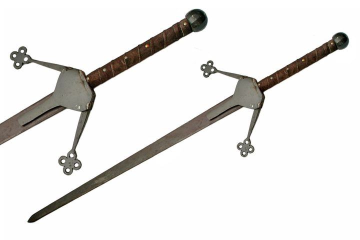 """HAND FORGED 50"""" RUSTIC SCOTTISH CLAYMORE (SLIGHT IMPERFECTIONS)"""