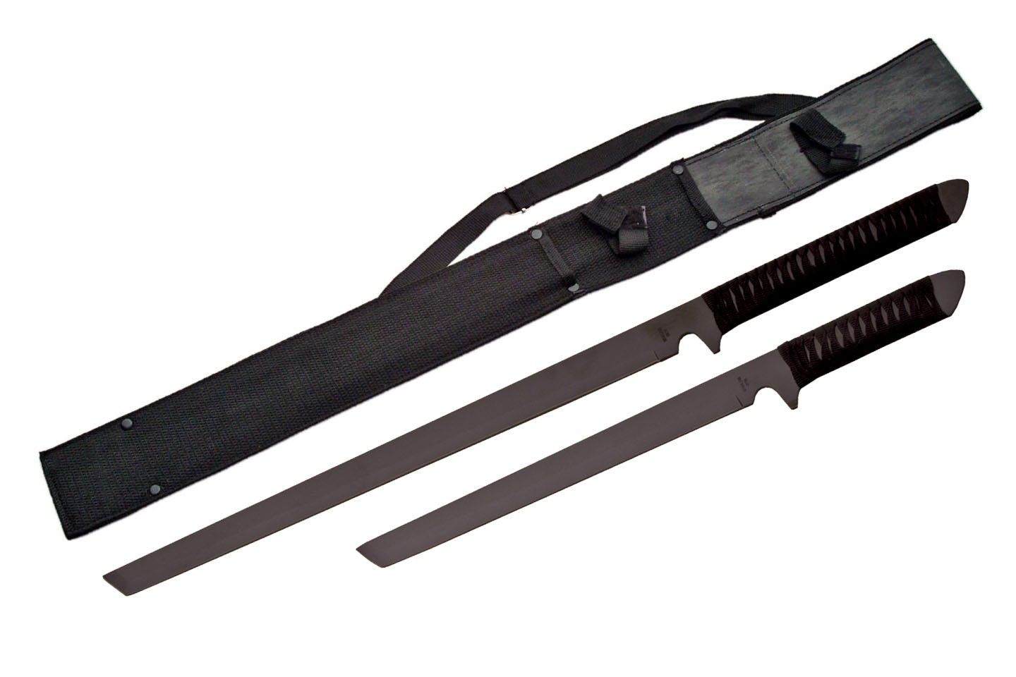 BLACK 2 PCS NINJA SWORD SET