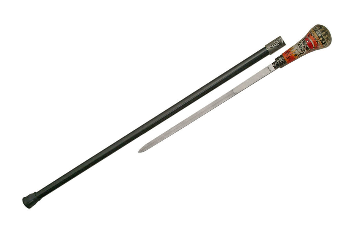 "35.5"" FLAME PIRATE CANE SWORD"