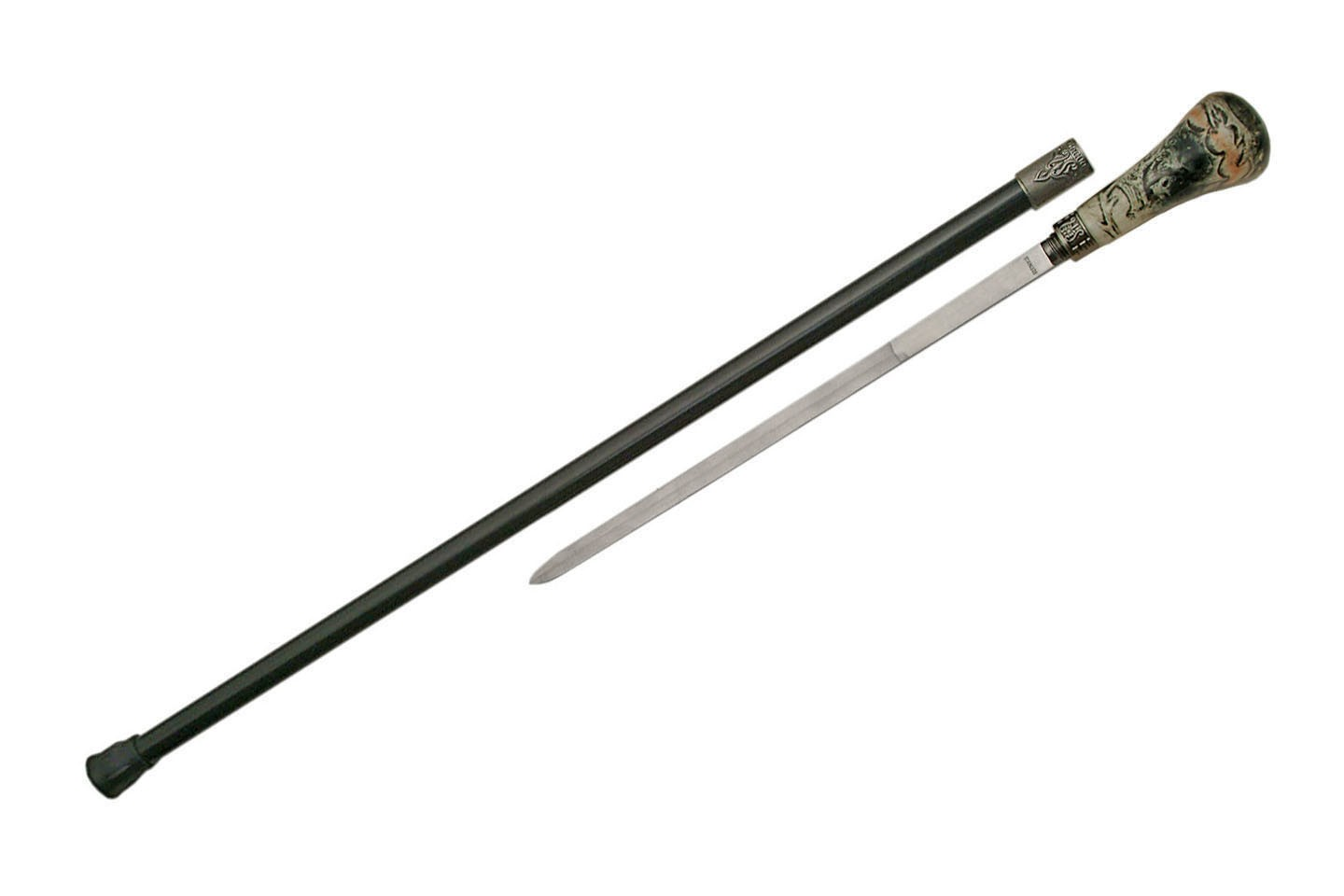"35.5"" TWIN WOLVES SWORD CANE"