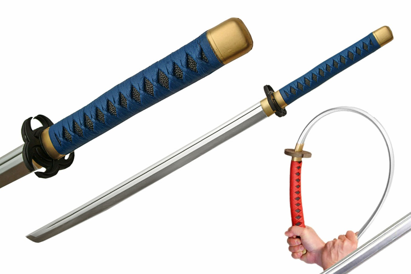 "39"" BLUE/BLACK FOAM SAMURAI SWORD"