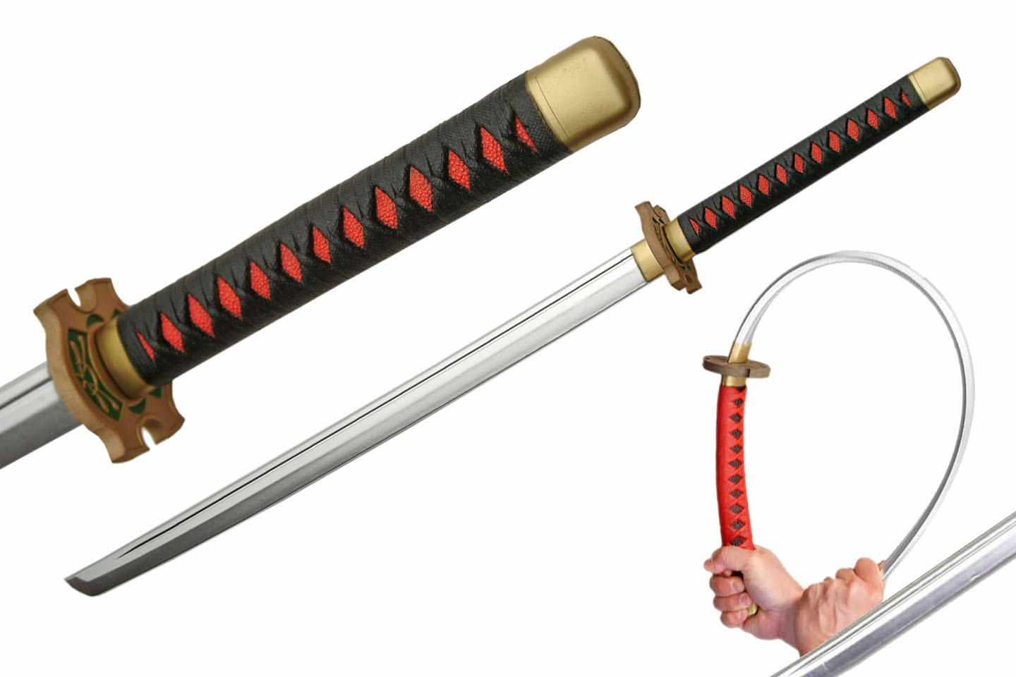 "39"" BLACK/ RED FOAM SAMURAI SWORD"
