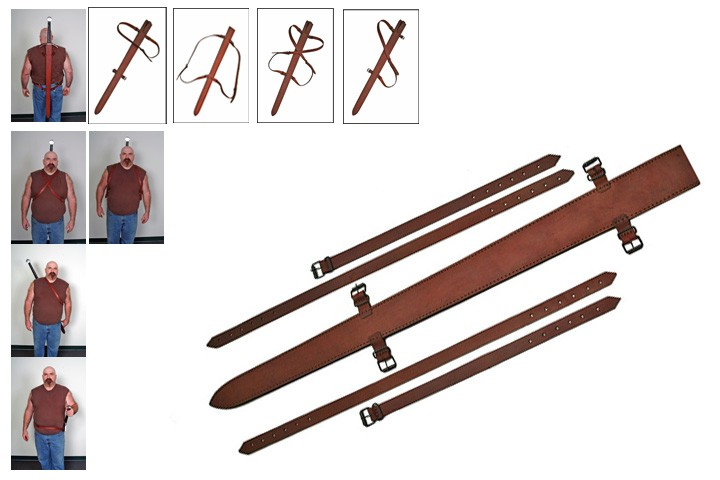"""UP TO 31"""" BLADE, TOP GRAIN LEATHER SWORD SHEATH"""